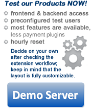 The Factory Demo Server for Joomla Extensions