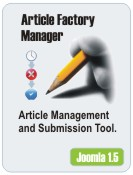 Article Factory Manager Joomla 1.5 Demo