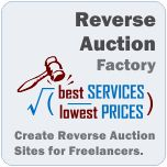 Reverse Auction Factory Demo